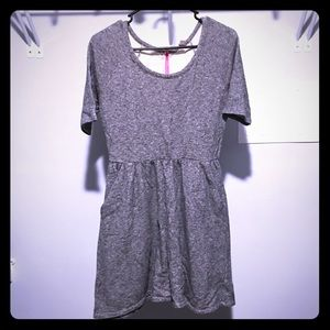 Gray Pocket Dress